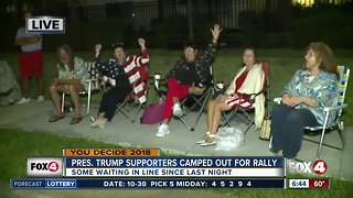 Trump supporters arrive early for Fort Myers rally - 6:45am live report