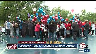 Friends of 13-year-old shot, killed organize balloon release - Video