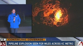 Pipeline explosion seen for miles across KC metro - Video
