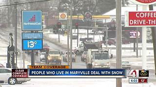 Maryville covered in blanket of snow - Video