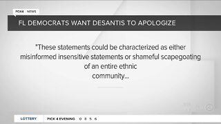 Democrats ask DeSantis to apologize