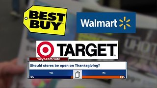 Which stores are open on Thanksgiving