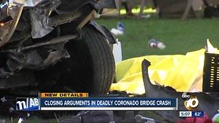 Closing arguments in deadly Coronado Bridge crash
