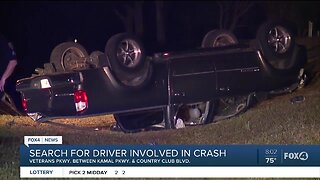 Driver fled after crashing truck in Cape Coral