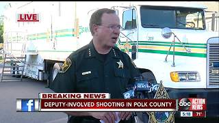 Polk County Sheriff investigates deadly deputy-involved shooting - Video