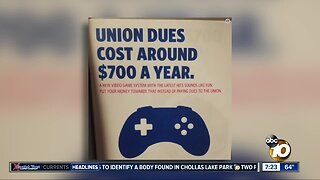 Union workers encouraged to buy video game instead of paying dues?