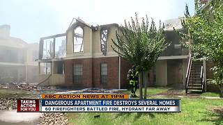 Apartment fire destroys homes - Video
