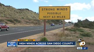 High winds whip across San Diego County