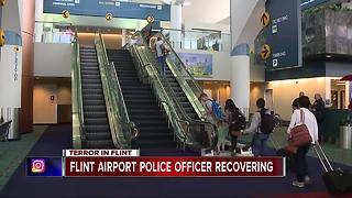 Flint airport officer recovering after attack - Video
