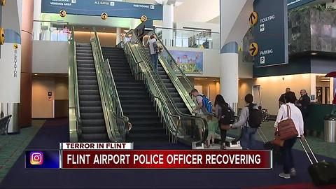 Flint airport officer recovering after attack