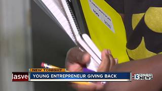 Young entrepreneur giving back
