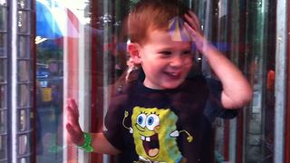 Boy Gets Lost In Fun House - Video