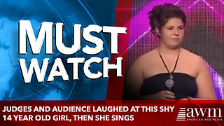 Judges and Audience Laughed At This Shy 14 Year Old Girl, then she sings - Video