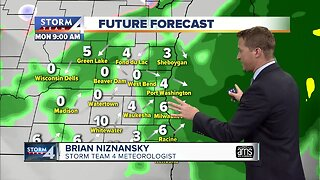 Foggy Monday with light showers