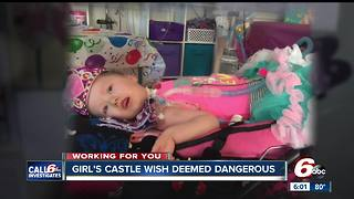 4-year-old's play castle by Make-A-Wish deemed unsafe - Video