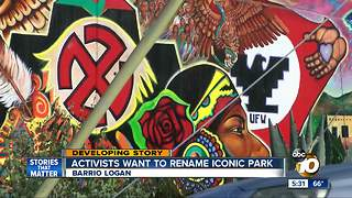 Activists want to rename iconic park - Video