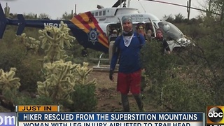 Hikers rescued off Superstition Mountains - Video
