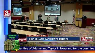 GOP Senate candidates debate without Sen. Fischer in attendance - Video