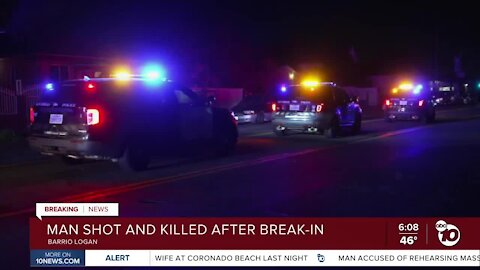 Man shot, killed after reported break-in