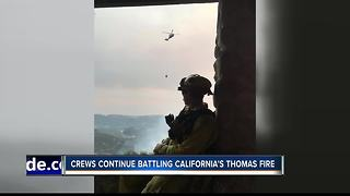 Star pilot returns after California fire mission - Video
