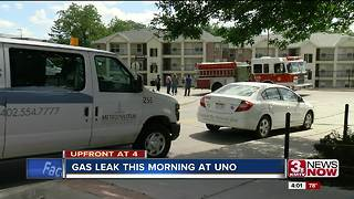 Gas leak at UNO - Video