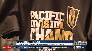 Golden Knights fans gear up for playoffs