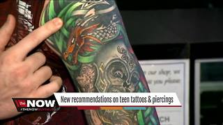 New recommendations on teen tattoos and piercings - Video
