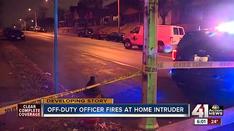 Off-duty KCPD officer shoots man who broke into home