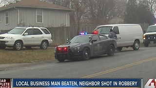 KC businessman beaten, neighbor shot during robbery on Christmas Eve - Video
