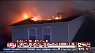 Owasso home fire possibly started by lightning strike - Video