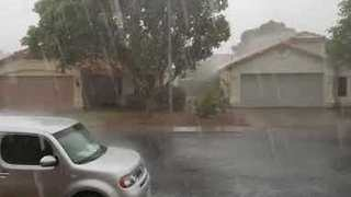 Damaging Monsoon Sweeps Through Phoenix Area - Video