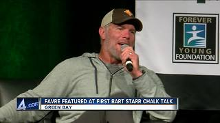 Brett Favre back in Green Bay for Bart Starr Jr.'s Chalk Talk - Video
