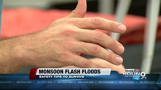 Hikers help each other out of dangerous flash floods in Sabino Canyon - Video