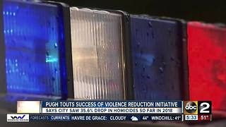 Mayor Catherine Pugh touts success of violence reduction initiative - Video