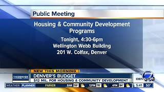 Denver has $12M for housing & community development