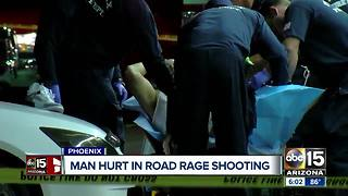 Man injured after being shot in west Phoenix road rage incident - Video
