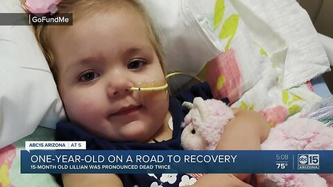 Young girl still on the road to recovery, a year after falling into a pool