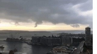 Storm Clouds Roll Over Sydney's Circular Quay - Video