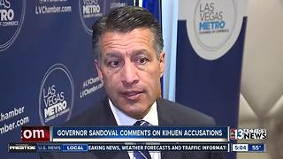 Gov. Brian Sandoval comments on Ruben Kihuen situation - Video