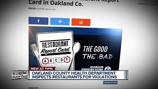 Inspector report cards detail problems at three Oakland County restaurants - Video