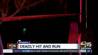 Man killed in hit-and-run crash in Phoenix