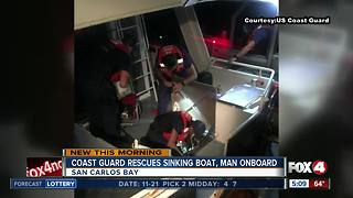 Coast Guard rescues man and boat off San Carlos Bay - Video