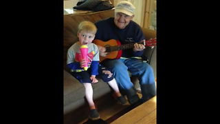 """Grandpa and Grandson Make Great Duet Together"""