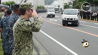 USS Fitzgerald sailor's body returned to San Diego - Video