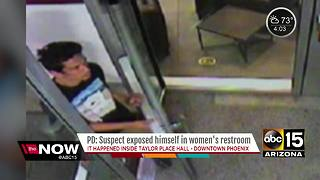 Police looking for man who exposed himself in women's bathroom - Video