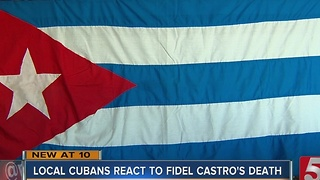 Local Cubans React To Fidel Castro's Death - Video
