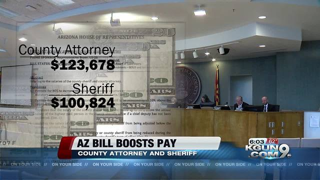 AZ bill could boost county attorney and sheriff's pay