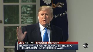 President Trump declares national emergency over border security