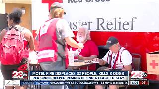 Motel fire displaces more than 30 people, kills eight dogs