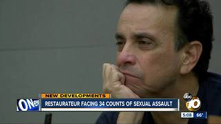 Restaurateur facing 34 counts of sexual assault - Video